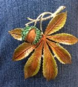 1960's Signed Exquisite Horse Chestnut Brooch - Conker Pin ( Number One) (SOLD)